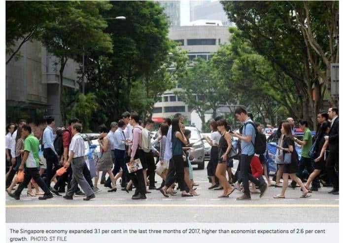 新加坡去年第四季经济同比增长3.1%