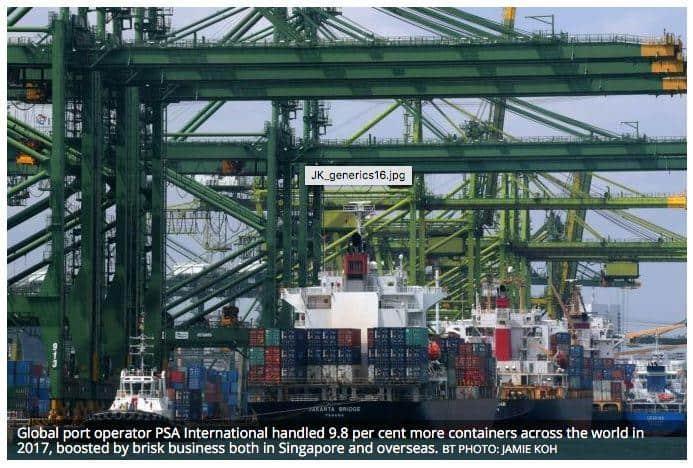 新加坡国际港务集团:全球港口去年集装箱吞吐量上升