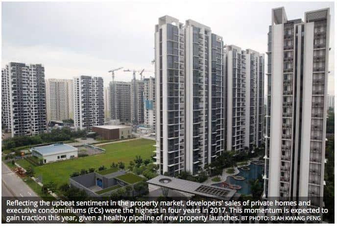 新加坡房地产投资信托估值处两年高位