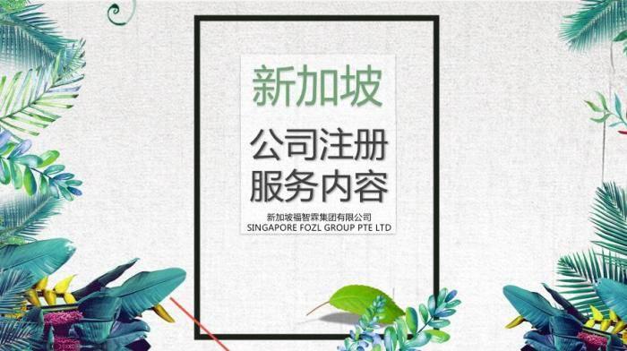 【广告篇】福智霖提供的新加坡公司注册服务有哪些?看这里!