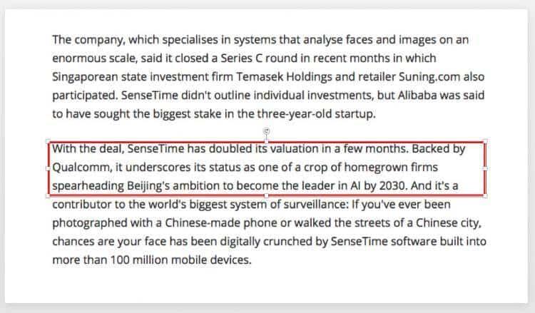 新加坡淡马锡控股阿里巴巴注资人工智能起步公司商汤科技!