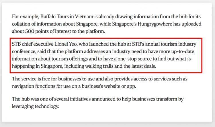 赞!新加坡旅游局推出旅游资讯站,免费提供一站式旅游讯息!