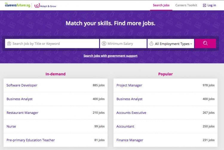 新加坡去年超过2万名雇主,通过职业前程配对网站职业库招聘员工!