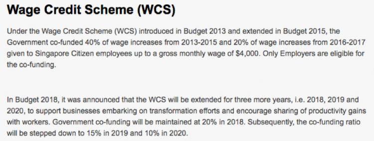 新加坡获就业入息补贴人数逐年增加!